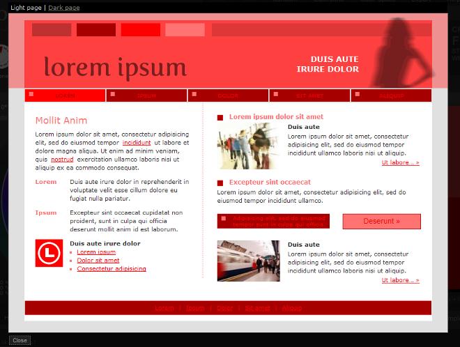 Light web page example - Color Scheme Designer 3